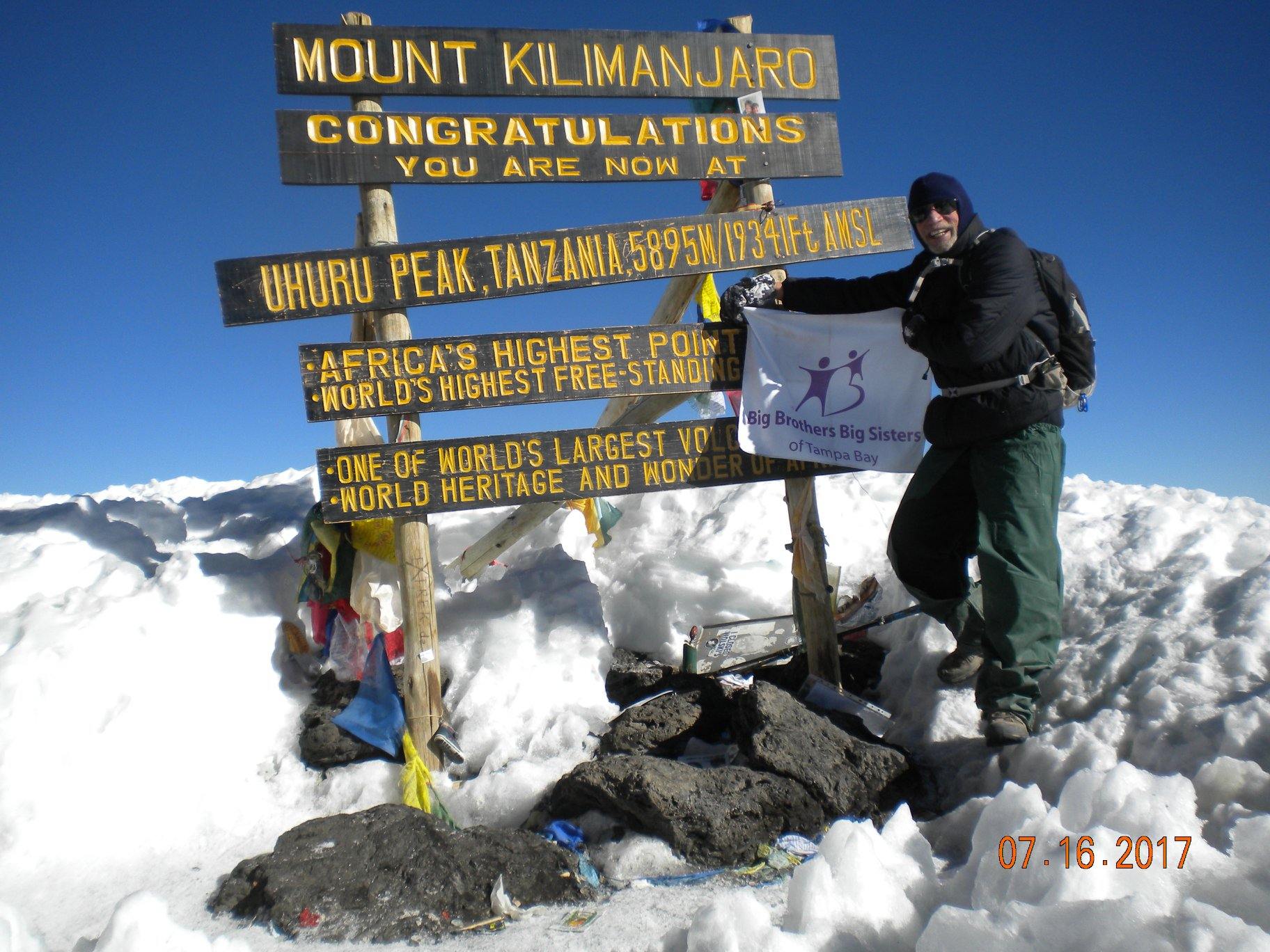 Big Brother Alan Cohen Climbed Mount Kilimanjaro for Big Brothers Big Sisters of Tampa Bay