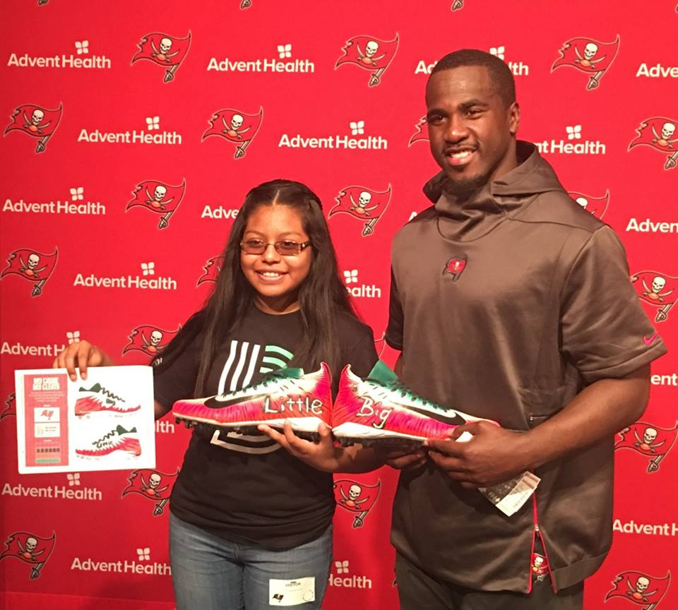Little Sister Designs Cleats that Buccaneers Player Lavonte David Wore as Part of the NFL's #MyCauseMyCleats Campaign